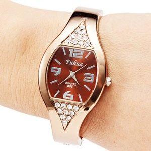 New Rose Golden Bracelet Wrist Watch